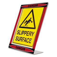 Themed Danger L-Shaped Sign Holder, Red/Black/Clear, 8 1/2 x 11