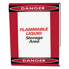 Clear Plastic Sign Holder with Danger Border, Red/Black/White, 8 1/2 x 11