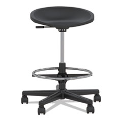 Tech Stool, Black, Black Frame