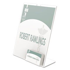 SUPERIOR IMAGE SIGN HOLDER W/POCKET, 8-1/2W X 11H, CLEAR