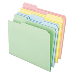 Pastel Color File Folders, 1/3 Cut Top Tab, Letter, Assorted, 100/Box