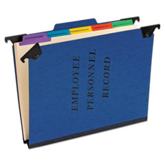 Personnel Folders, 1/3 Cut Hanging Top Tab, Letter, Blue