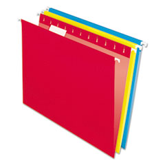Colored Hanging Folders, 1/5 Tab, Letter, Assorted Colors, 25/Box