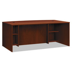 BL Laminate Series Breakfront Desk Shell Bow Front, 72w x 42d x 29h, Med. Cherry
