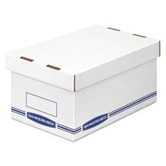 Organizer Storage Boxes, Medium, White/Blue, 12/Carton