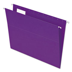 Colored Hanging Folders, 1/5 Tab, Letter, Violet, 25/Box