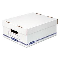 Organizer Storage Boxes, Large, White/Blue, 12/Carton