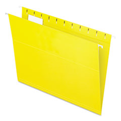 Colored Hanging Folders, 1/5 Tab, Letter, Yellow, 25/Box
