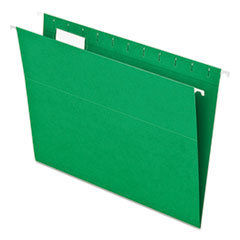 Colored Hanging Folders, 1/5 Tab, Letter, Bright Green, 25/Box