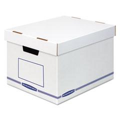 Organizer Storage Boxes, X-Large, White/Blue, 12/Carton