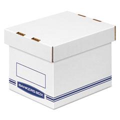 Organizer Storage Boxes, Small, White/Blue, 12/Carton