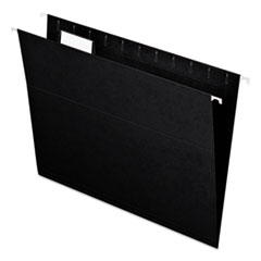 Colored Hanging Folders, 1/5 Tab, Letter, Black, 25/Box