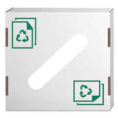Waste and Recycling Bin Lid, Paper, White, 10/Carton