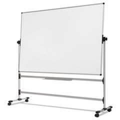 Earth Silver Easy Clean Revolver Dry Erase Board, 36 x 48, White, Steel Frame