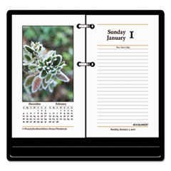 Photographic Desk Calendar Refill, 3 1/2 x 6, 2017