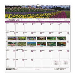Recycled Gardens of the World Monthly Wall Calendar, 12 x 12, 2017