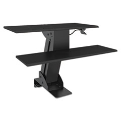 Sit Stand Workstation, 31 1/2 x 40 x 20, Black