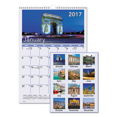 European Destinations Wall Calendar, 12 x 17, 2017