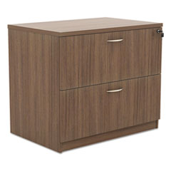 Alera Valencia Series Two-Drawer Lateral File, 34w x 22 3/4d x 29 1/2h, Walnut