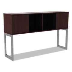 Alera Open Office Desk Series Hutch, 60w x 15d x 36 1/2h, Mahogany