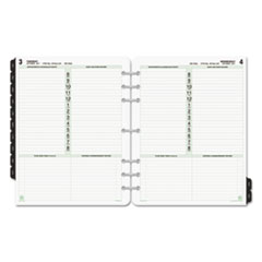 Dated One-Page-per-Day Organizer Refill, January-December, 8 1/2 x 11, 2017