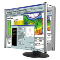 "LCD Monitor Magnifier Filter, Fits 24"" Widescreen LCD, 16:9/16:10 Aspect Ratio"