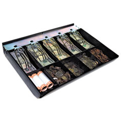 Cash Drawer Replacement Tray, Black, ABS Plastic, 12 1/2 x 13 x 2 3/4