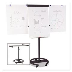 360 Multi-Use Mobile Magnetic Dry Erase Easel, 27 x 41, Black Frame
