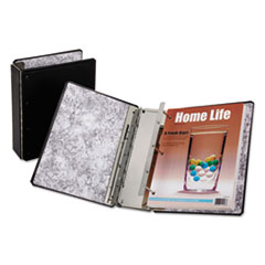"Catalog Binder with Expanding Posts, 5 1/2"" Cap, 11 x 8 1/2, Black"