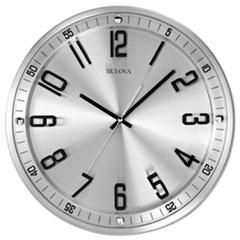 "Silhouette Wall Clock, 13"" Diameter, Silver"