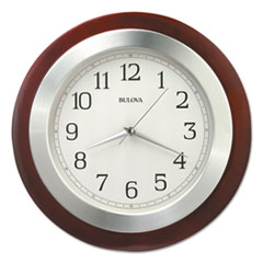 "Reedham Wall Clock, 14"" Diameter, Walnut"