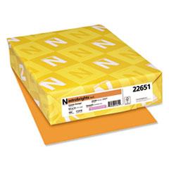 Color Paper, 24lb, 8 1/2 x 11, Cosmic Orange, 500 Sheets