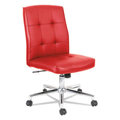 Slimline Swivel/Tilt Task Chair, Red with Chrome Base