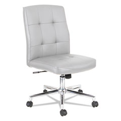 Slimline Swivel/Tilt Task Chair, White with Chrome Base