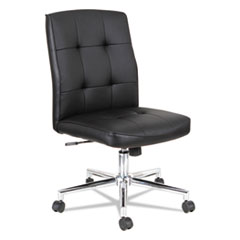 Slimline Swivel/Tilt Task Chair, Black with Chrome Base