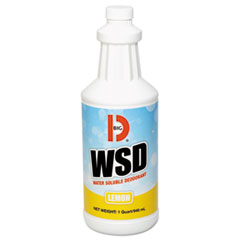Water-Soluble Deodorant, Lemon Scent, 32oz Bottles, 12/Carton
