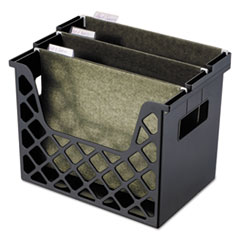 Recycled Desktop File Holder, Plastic, 13 1/4 X 8 1/2 X 9 5/8, Black