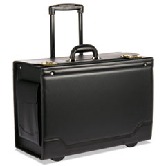STEBCO Collection Rolling Catalog Case, 21 3/4 x 15 1/2 x 9 3/4, Black
