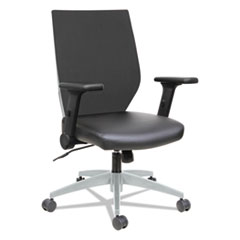 Alera EB-T Series Syncho Mid-Back Flip-Arm Chair, Black/Gray