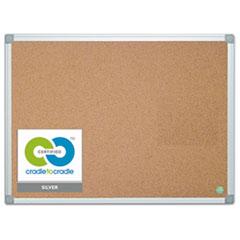 Earth Cork Board, 36 x 48, Aluminum Frame