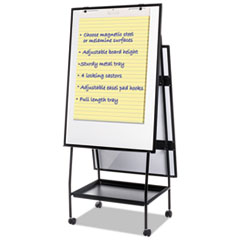 Creation Station Magnetic Dry Erase Board, 29 1/2 x 74 7/8, Black Frame