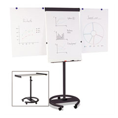 360 Multi-Use Mobile Magnetic Dry Erase Easel, 27 x 41, Black Frame