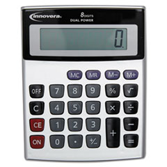 Portable Minidesk Calculator, 8-Digit LCD
