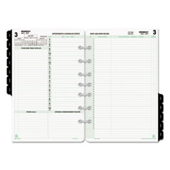 Reference Dated Two-Page-per-Day Organizer Refill, 5 1/2 x 8 1/2, 2017