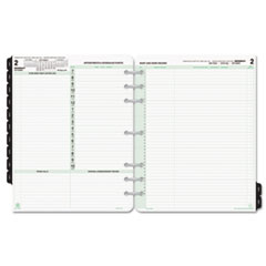 Reference Dated Two-Page-per-Day Organizer Refill, Jan.-Dec., 8 1/2 x 11, 2017