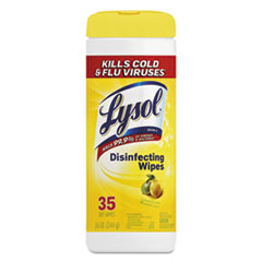Disinfecting Wipes, Lemon and Lime Blossom, 7 x 8, 35/Canister