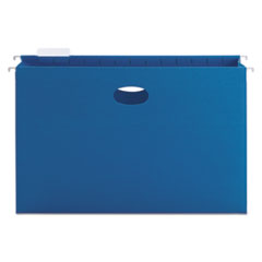 """3"""" Capacity Closed Side Flexible Hanging File Pockets, Legal, Sky Blue, 25/Box"""