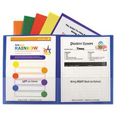 Classroom Connector Folders, Assorted, 6/Pk