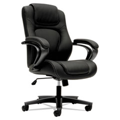 VL402 Series Executive High-Back Chair, Black Vinyl