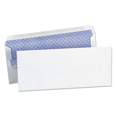 Self-Seal Business Envelope, Security Tint, #10, White, 500/Box